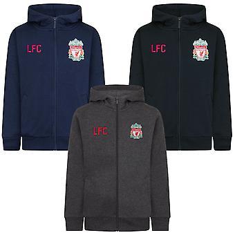 Liverpool FC offisielle fotball gave gutter fleece zip hoody