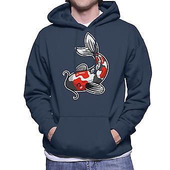 Schattige Koi Carp Men's Hooded Sweatshirt