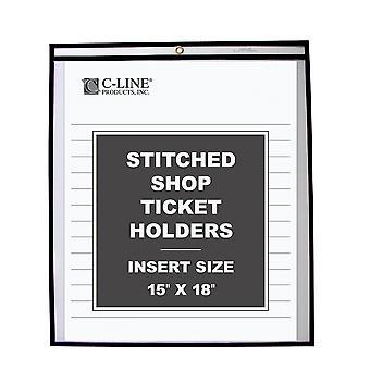46158, Shop ticketHolders, Stitched, entrambi i lati chiari, 15 x 18, 25/BX, 46158