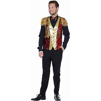 Kamizelka brokatowa z muszką męska kamizelka kostium karnawałowa
