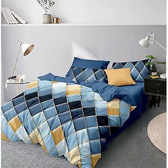 Modern 3d Geometric Printed Duvet Cover Set With Pillowcase