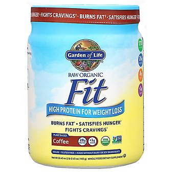 Garden of Life, RAW Organic Fit, High Protein for Weight Loss, Coffee, 16.40 oz