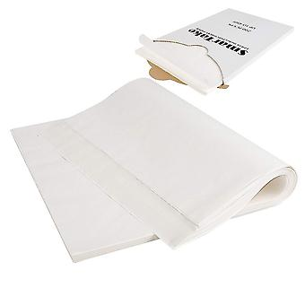 200pcs Backpapier Doppelseitige Silikonöl Pergament 40x30CM Weiß