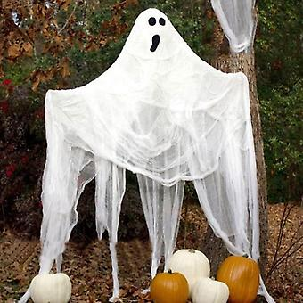 Super Size Creepy Gray Black White Cloth Halloween Gauze Decoration