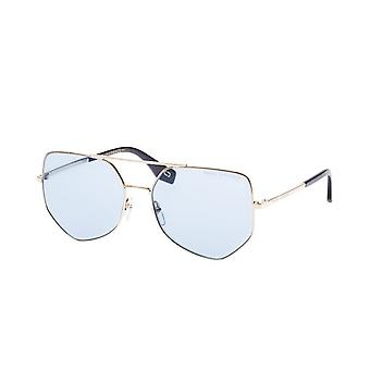 Sunglasses Unisex polygonal gold/blue