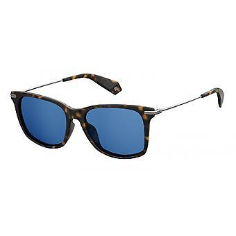 نظارات شمسية Unisex 6078/S086/C3 مربع بني/ أزرق