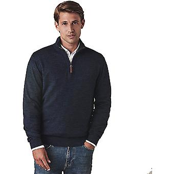 Crew Clothing Mens Chesil Half Zip Cotton Jumper