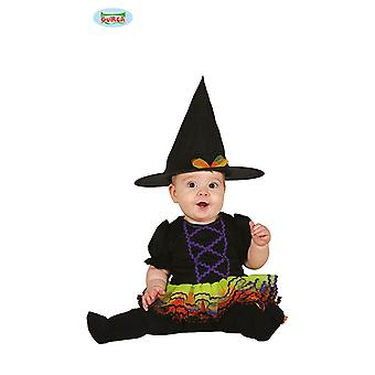 Baby witch with colorful tulle costume for Kids Carnival Carnival Halloween