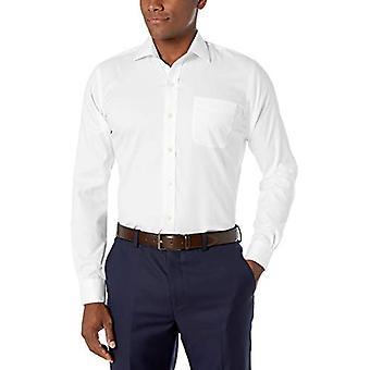 KNAPPET NED Men's Slim Fit Spread Collar Solid Non-Iron Dress Shirt (Pocket...