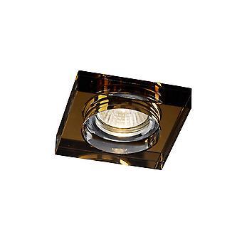 Inspiriert Diyas - Crystal Downlights - Versenkt Downlight Deep Square Rim nur Bronze, erfordert 100035310, um den Artikel zu vervollständigen