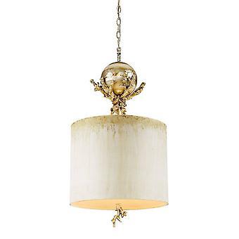 1 Lichte plafondhanger stopverf, zilverblad, E27