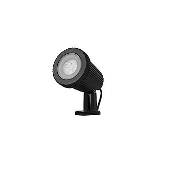 LED 6 luz al aire libre Spotlight negro IP65