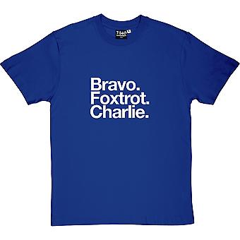 Burnley FC : Bravo Foxtrot Charlie Royal Blue Men's T-Shirt