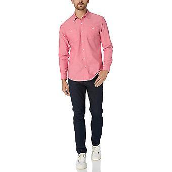 Essentials Men's Slim-fit Long-Sleeve Chambray Shirt