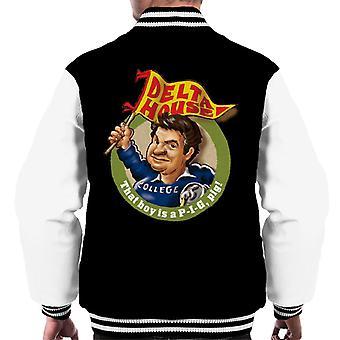 Animal House Delta House som pojke är en gris Män & apos, s Varsity Jacket
