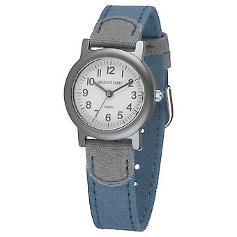 JACQUES FAREL Eco Kids Polshorloge Analog Quartz Boys ORG 0777 Blue Grey