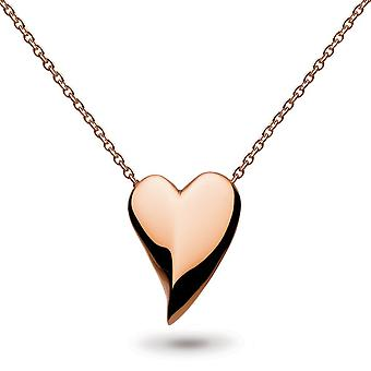 "Kit Heath Desire Lust Hjärta Rose Gold Plate 18"" Halsband 90FTRG014"