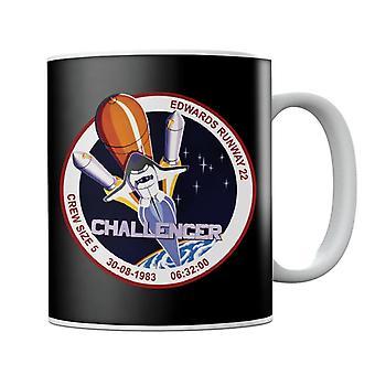 NASA STS 8 Challenger Mission Badge Mug