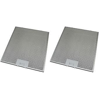 2 x Universal Cooker Hood Metal Grease Filter 295mm x 356mm