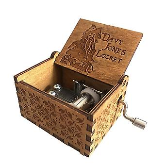 Wooden Hand Crank, Pirates Of The Caribbean Music Box