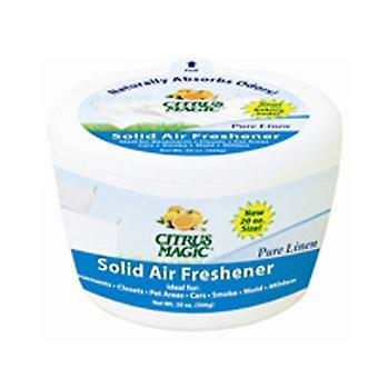 Citrus Magic Solid Air Odorizant, Lenjerie pură 20 oz