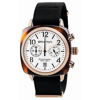 Briston Clubmaster Klassisk Acetate Kronograf klocka - Svart / Vit / Rose Guld