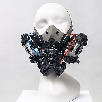 Cyberpunk And Mechanical Style Entertainment Mask (can Be Used In Combination With Medical Masks)