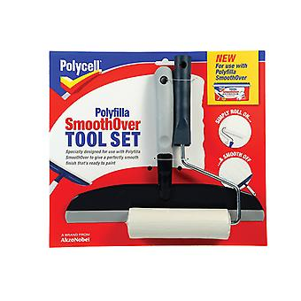 Polycell SmoothOver Tool Set Roller & Spreader PLCSOTS2