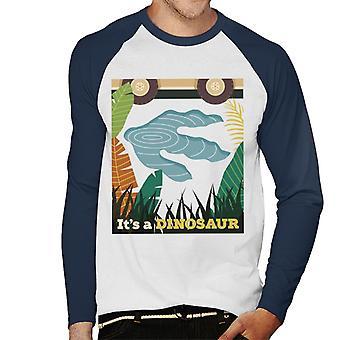 Jurassic Park Its A Dinosaur Footprint Men's Baseball Long Sleeved T-Shirt