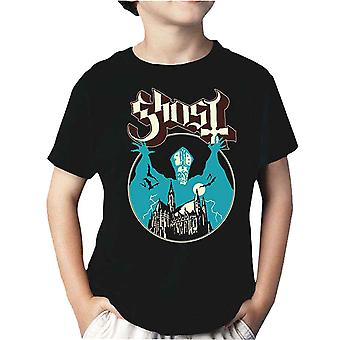 Ghost Kids T Shirt Opus Eponymous Band Logo new Official Black Ages 5-14 yrs