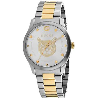 Gucci Unisex's G-Timeless Silver Dial Watch - YA1264074
