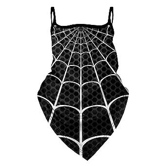 Herr GUGU & Miss GO Black Spider Maske Bandana Gesichtsmaske BM 2043