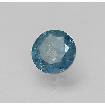Cert 0.63 Karat Fancy Vivid Blue Runde brillante verbesserte natürliche Diamant 5.41mm