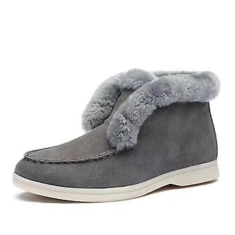 Ankle Boots Suede-leather Boots Warm Winter Boots Slip-on Snow Boots For Women
