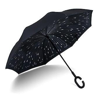 Taittuvat kaksi kerrosta Fancytime Reverse Rain Sateenvarjo