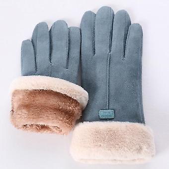 Fashion Women Gloves Autumn Winter Cute Furry Warm Mitts Full Finger Mittens