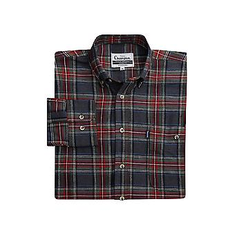 Walker and Hawkes - Mens Cranbrook Chemise à manches longues 100% Cotton Check