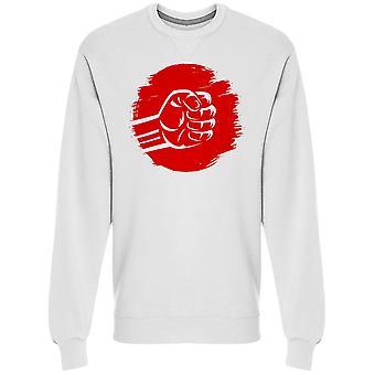 Clenched Fist Brush Stroke Mma Collegepaita Men's -Kuva Shutterstock