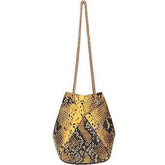 The Volon Ezgl221011 Women's Yellow Leather Shoulder Bag