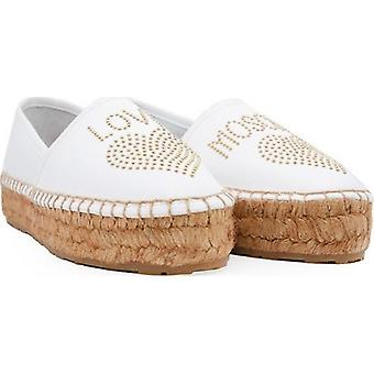 Love Moschino Studded Logo Espadrilles