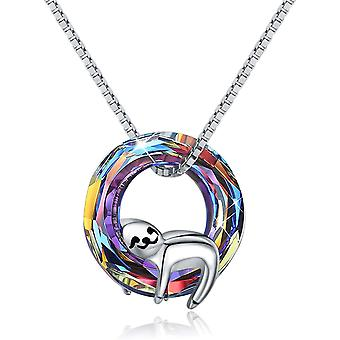 Sloth Gifts for Girls 925 Sterling Silver Cute Sloth Pendant Necklace