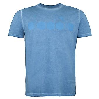 Diadora Blue Pearl Arbor Short Sleeved Crew Neck Mens T-shirt 60097