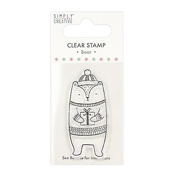Simply Creative Bear Clear Stamp