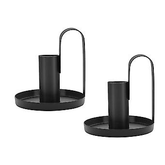 Candle Holders, Black Candlestick Holders For Taper Candles, Fit Wedding, Dinning, Party