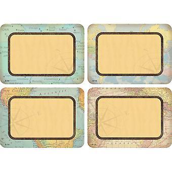 Viajar las etiquetas/etiquetas de nombre de mapa - Multi-Pack