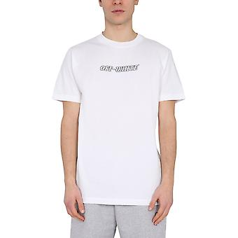 Off-white Omaa027r21jer0110131 Mænd's White Cotton T-shirt