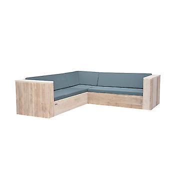 Wood4you - Loungeset 2 steigerhout  200x200 cm - incl kussens