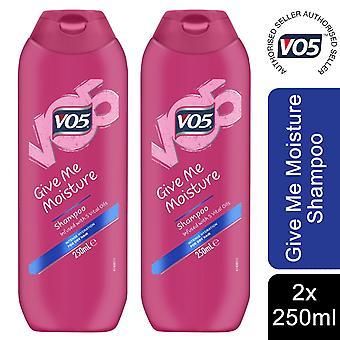 VO5 Shampoo Infused With 5 Vital Oils, Give Me Moisture, 2 Pack, 250ml