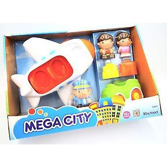 Mega şehir yoğun havaalanı oyun seti