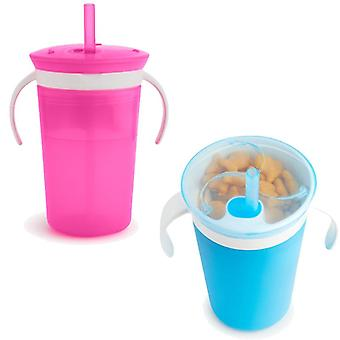 Munchkin sippy straw cup and snack catcher 2 pack